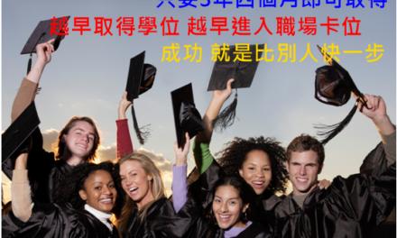 真的只要3年4個月_就可取得澳洲Bachelor of Business+Master of Business 商學士+碩士學位