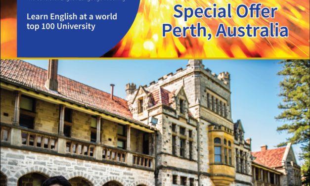 【伯斯】UWA-CELT 西澳大學附設語言中心 11月台灣獨家優惠