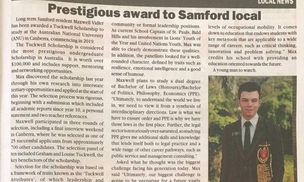聖保羅準畢業生即將進入全澳洲排名第一的大學