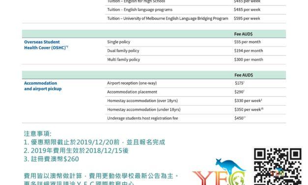 【墨爾本】墨爾本霍桑大學 附設語言學校 2019 台灣獨家優惠