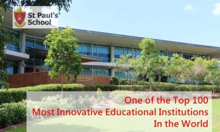聖保羅學校成為 TOP 100 最具創新性的教育機構之一!