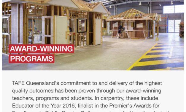 昆士蘭公立技術學院 三級木工證書