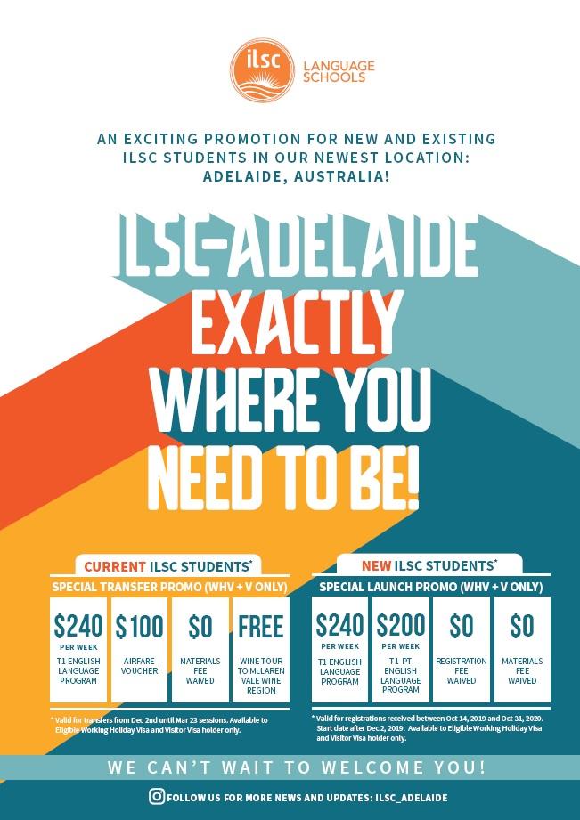 ILSC Adelaide 澳洲遊學優惠