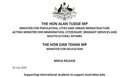 2020 澳洲學生簽證開放申請